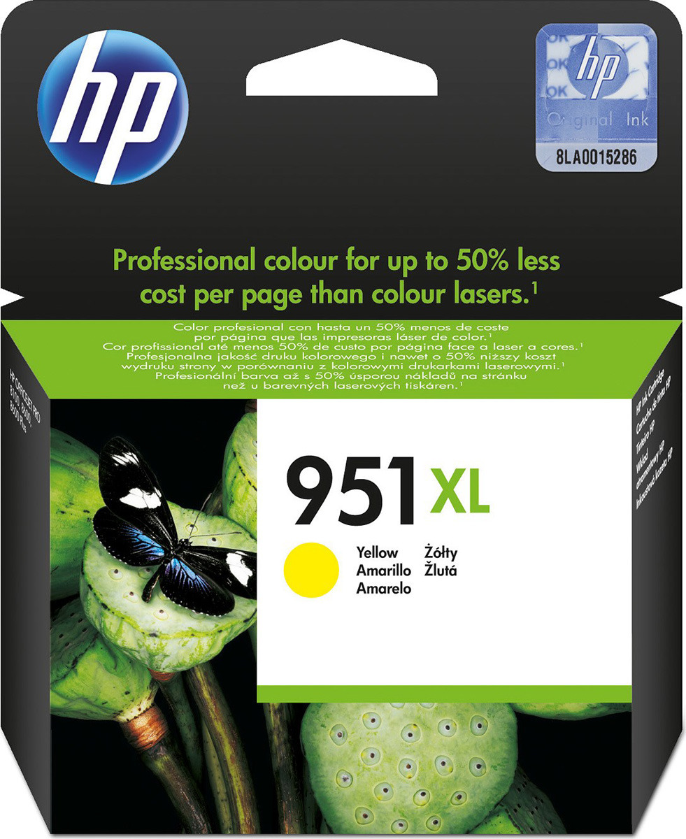 Картридж HP 951XL, желтый, для струйного принтера, оригинал цена 2017