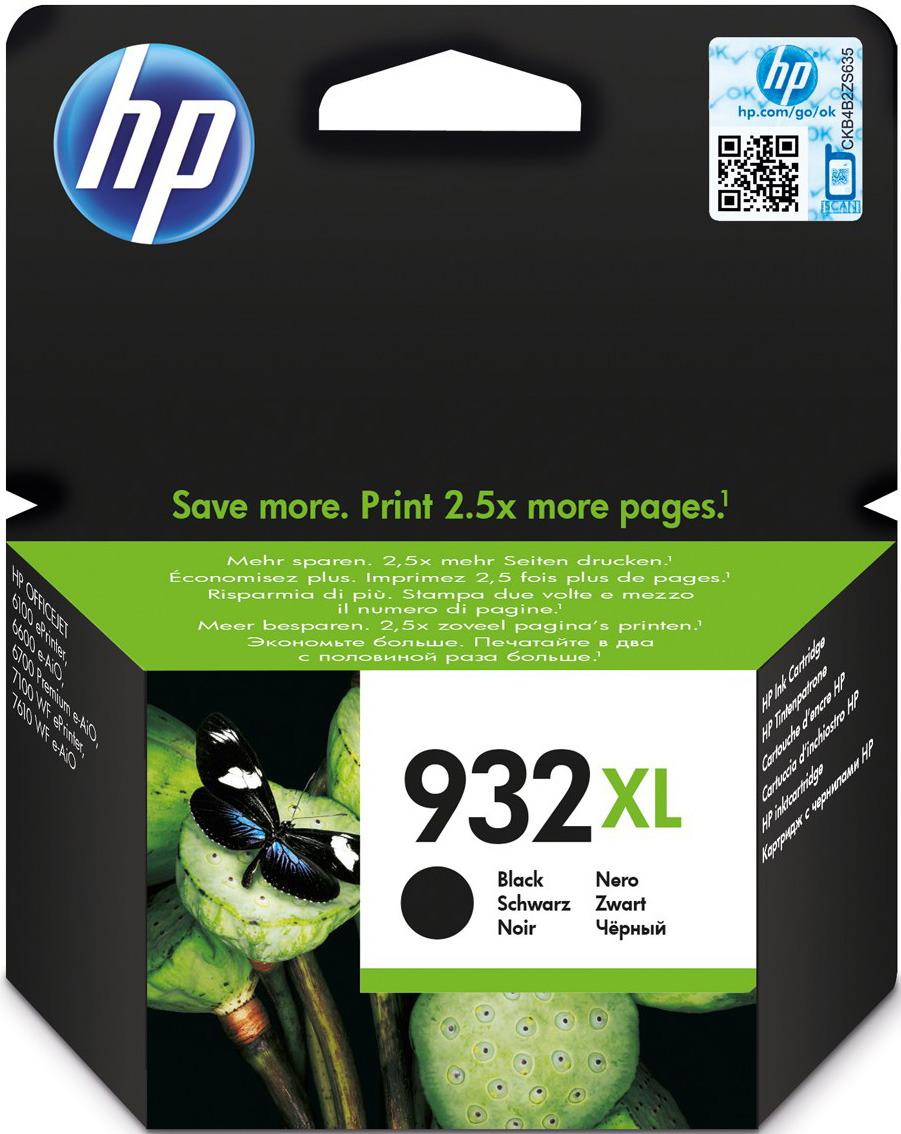 Картридж HP CN053AE 932XL, черный, для струйного принтера, оригинал стоимость