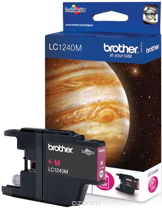 Картридж Brother LC1240M, пурпурный, для струйного принтера