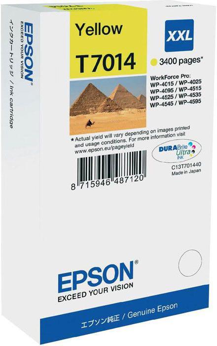 Картридж Epson T7014, желтый, для струйного принтера, оригинал