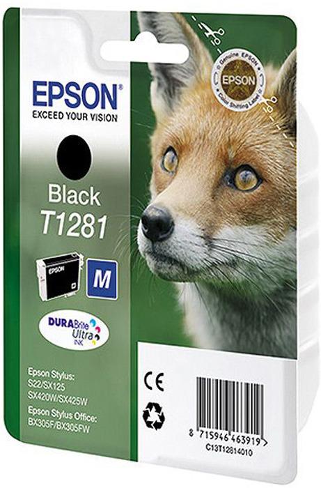 Epson T1281 (C13T12814012), Black картридж для S22/SX125/SX425/BX305 цена