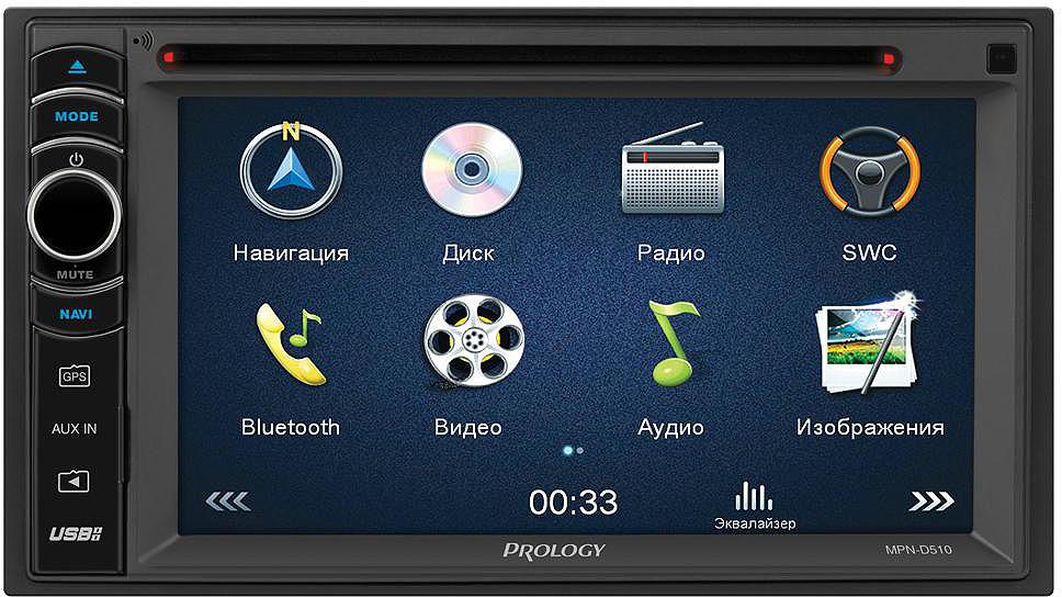 Автомагнитола Prology MPN-D510 eincar pair lcd dual screen headrest cd dvd player usb sd mp3 mp4 support 32 bit games fm transmitter ir monitor 2 ir headphones