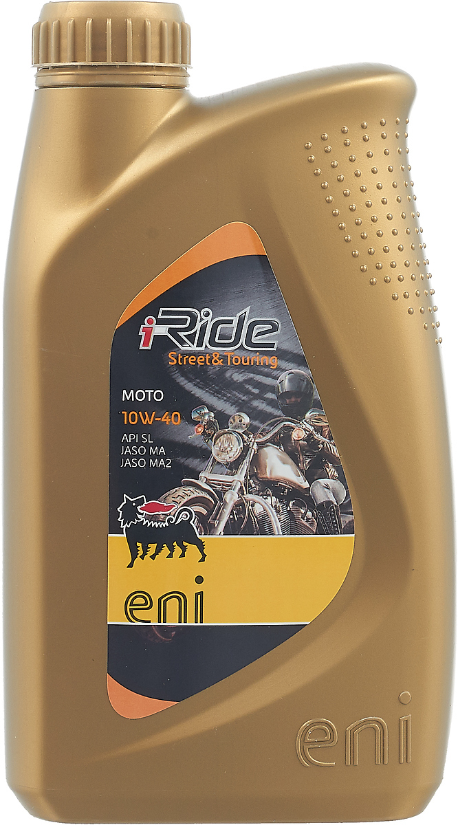 Моторное масло Eni i-Ride Moto, полусинтетическое, 10W40, API SL, ACEA A3, JASO MA/MA2, 1 л Eni