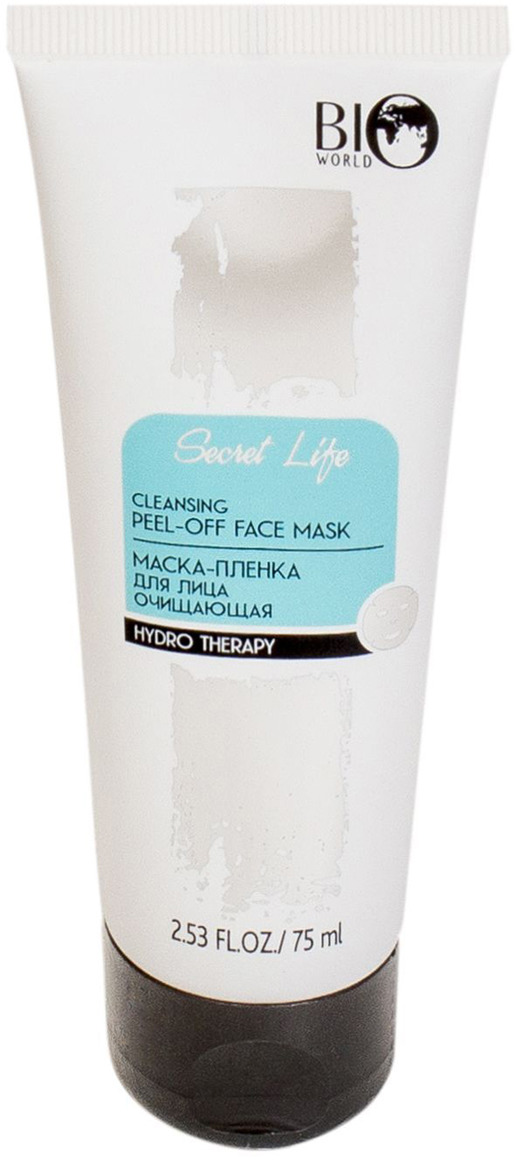 Маска-пленка для лица очищающая Bio World Hydro Therapy, 75 мл маска пленка для лица и шеи bio helix