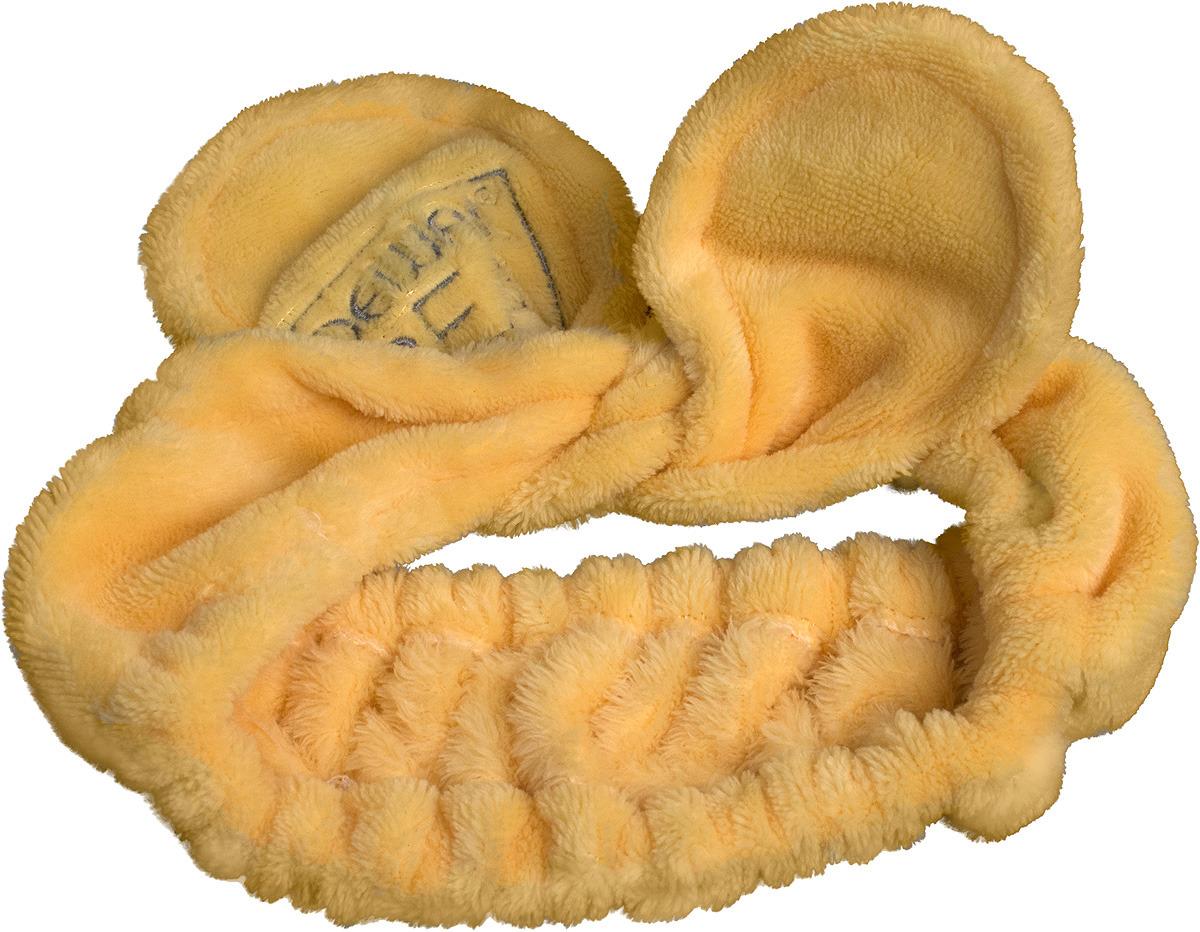 Повязка на голову Dewal Beauty, цвет: желтыйHB-103Повязки на голову - изящный аксессуар для фиксации волос во время проведения самых важных ежедневных процедур: очищение, нанесение крема, масок и макияжа. Повязки позволят производить уход за кожей более комфортно и гигиенично. Волосы не выбиваются из аксессуара, и процедура проходит аккуратно. Мягкие, уютные повязки – лучшее решение для тех, кто предпочитает комфорт и удобство при нанесении косметических средств. Оригинальные формы и актуальные цвета - выбор за Вами!! Рекомендуем!