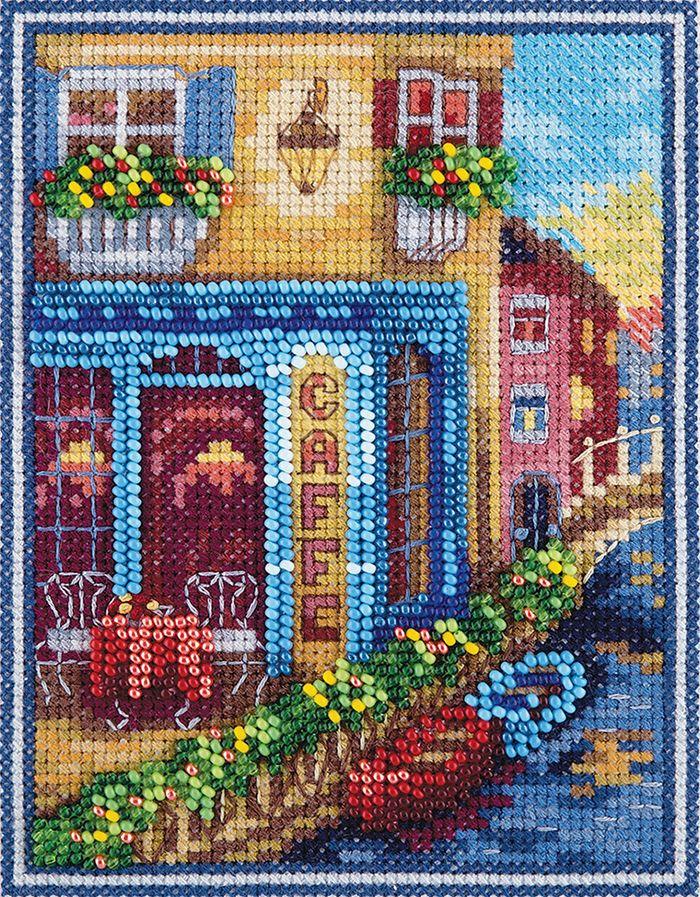 Фото - Набор для вышивания крестом и бисером Panna Венецианское кафе, 11 х 14,5 см одежда для йоги fiber gamma qj9245 2015