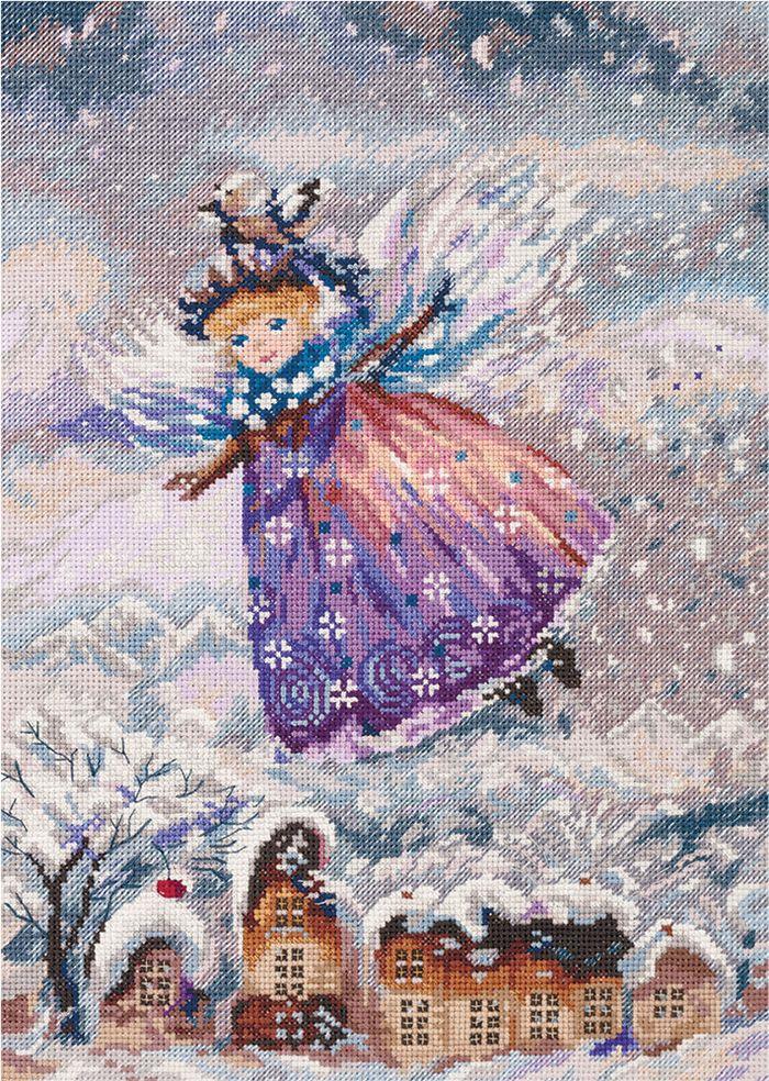 """Набор для вышивания крестом Panna """"Зимний ангел"""", 22,5 х 31,5 см"""
