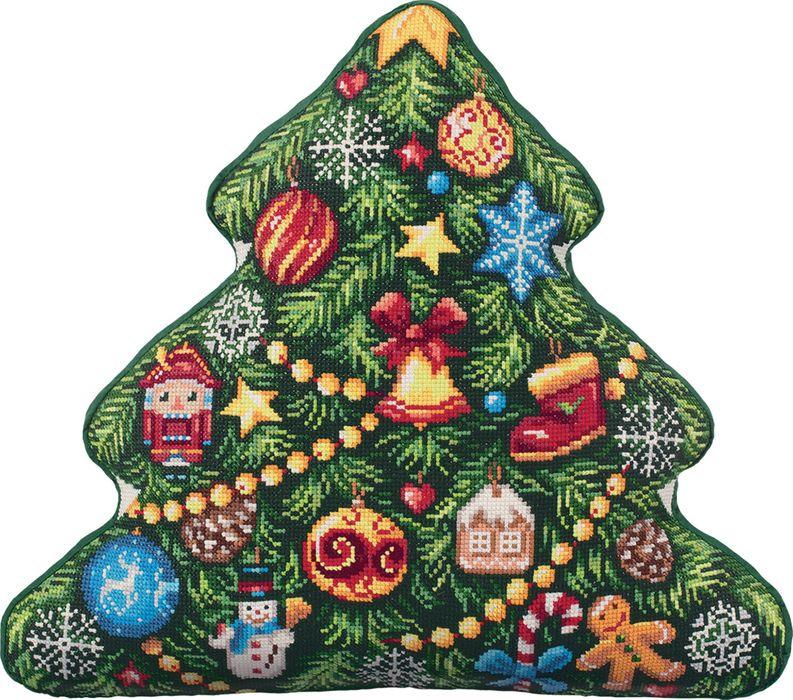 Набор для вышивания крестом Panna Подушка Елка, 44 х 40 см набор для вышивания крестом panna подушка мандала 40 х 40 см