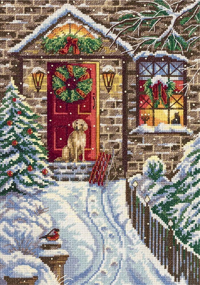 Набор для вышивания крестом и бисером Panna В канун Рождества, 19 х 27 см набор для вышивания крестом panna благословение успех 27 х 15 см