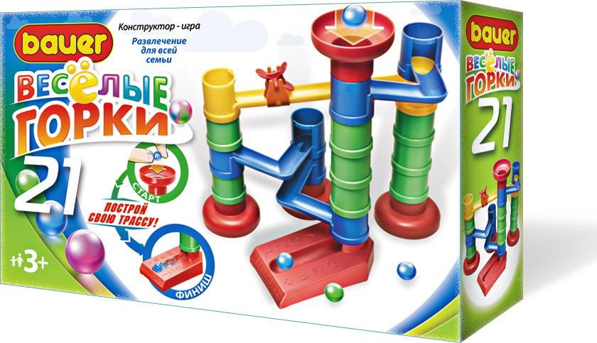 Конструктор Bauer Веселые горки 21 bauer bauer конструктор веселые горки 145 элементов