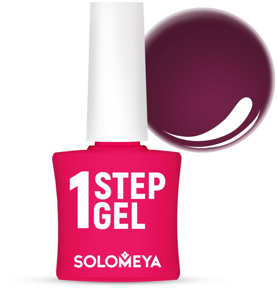 Однофазный гель-лак Solomeya, тон 14 вишня, 5 мл однофазный гель лак кварц solomeya one step gel 31 quartz