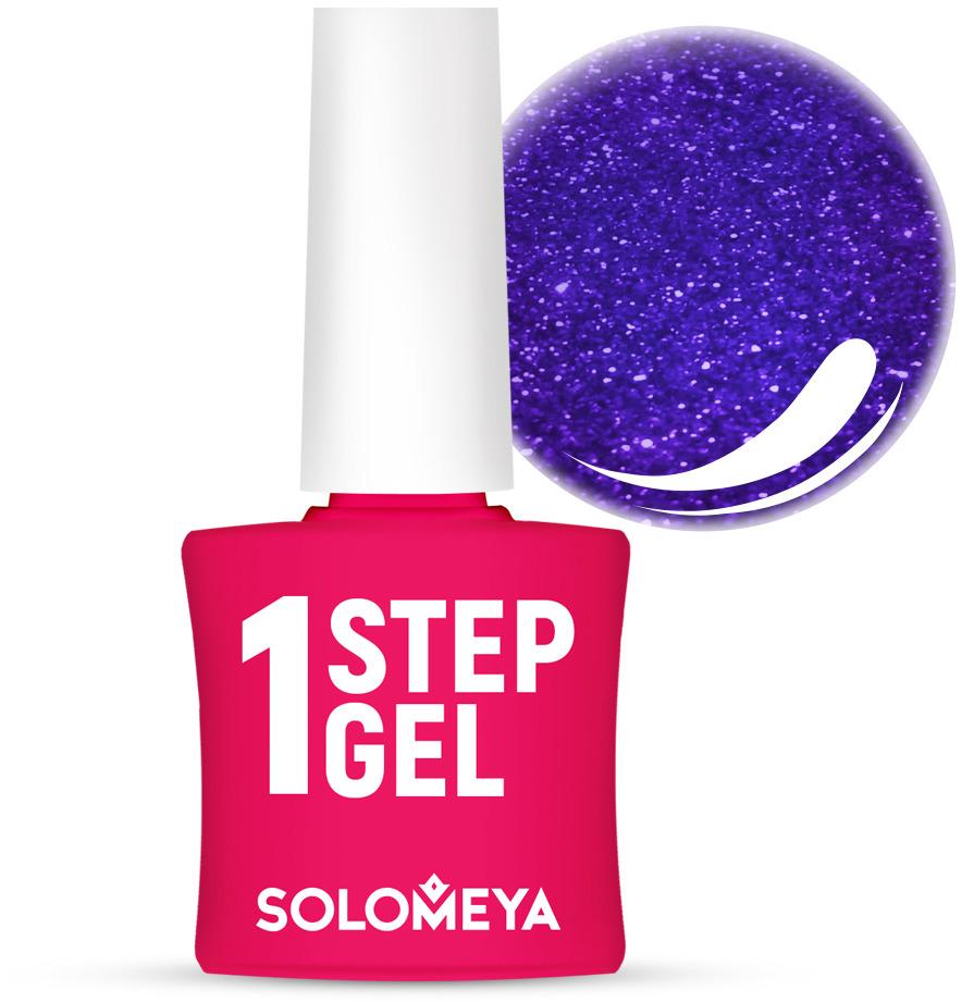 Однофазный гель-лак Solomeya, тон 24 сапфир, 5 мл однофазный гель лак кварц solomeya one step gel 31 quartz