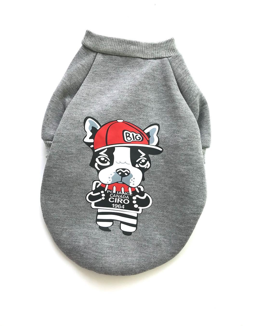 Одежда для собак Arnydog.ru Толстовка Серая с собакой L-57_s, серый