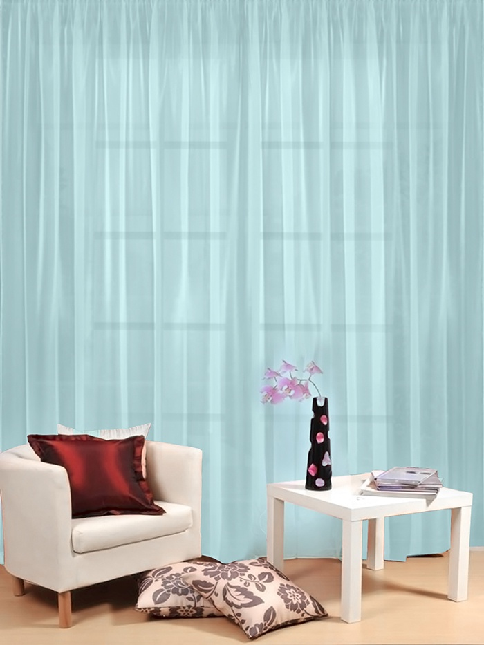 Тюль гостиный Камея Моно на ленте, цвет: голубой, 300 х 260 см тюль камея тюль моно т106кремовый