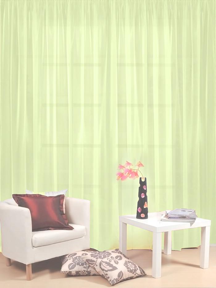 Тюль гостиный Камея Моно на ленте, цвет: салатовый, 300 х 260 см тюль камея тюль моно т106кремовый