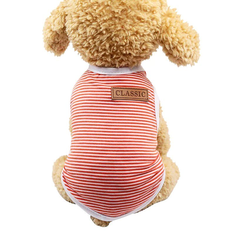 Майка для собак Arnydog.ru Classic, GGS-1-4, оранжевый, белый, размер S