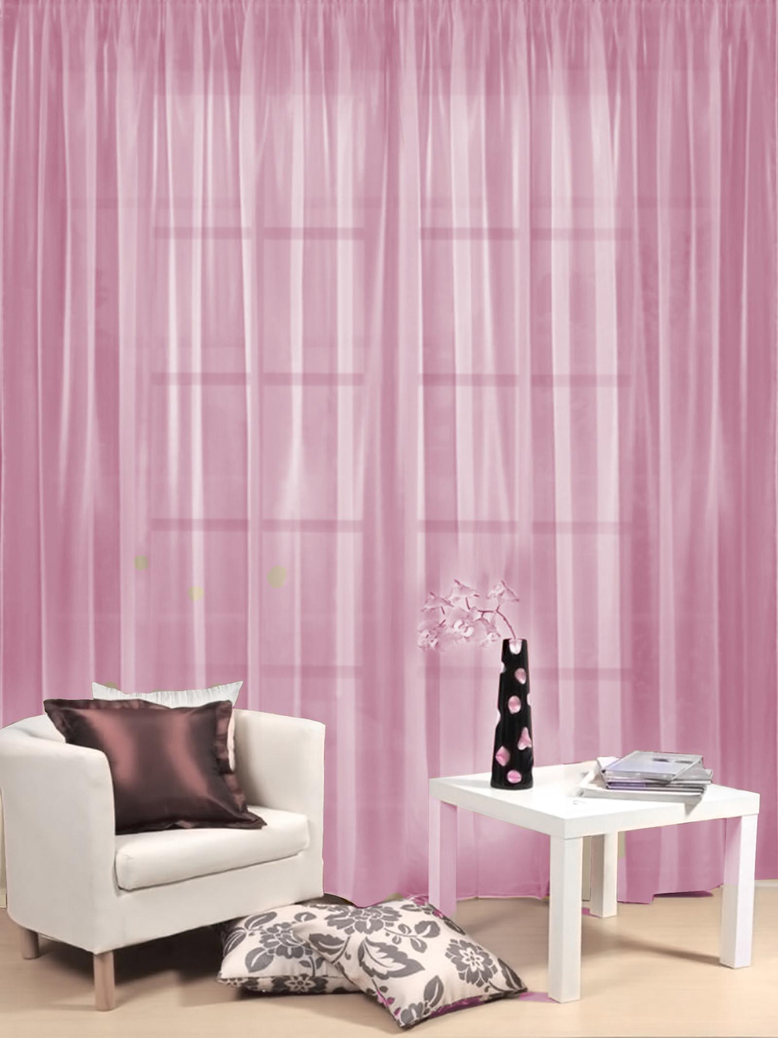 Тюль гостиный Камея Моно на ленте, цвет: розовый, 300 х 260 см цена