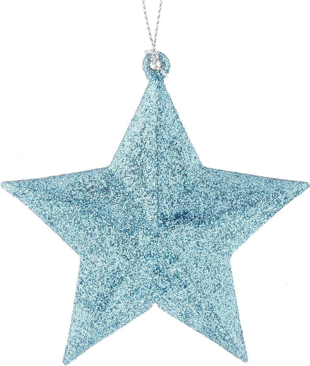 Новогоднее елочное украшение Magic Time Звезда в голубом глитере, 9 см украшение елочное звезда барокко 8 8 см черный золотой 1 шт в пакете