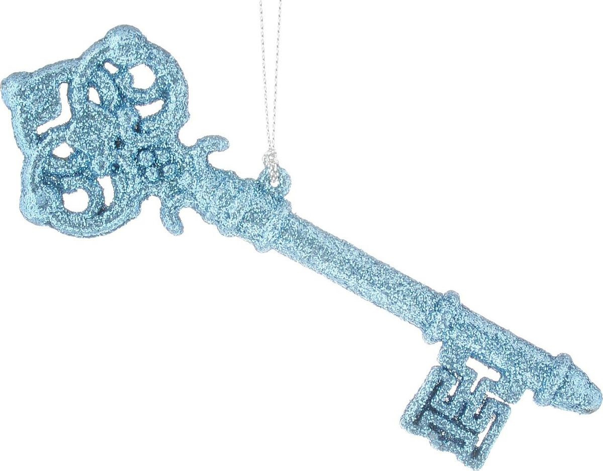 """Новогоднее елочное украшение Magic Time """"Голубой ключик"""", 14,5 х 14,5 см"""