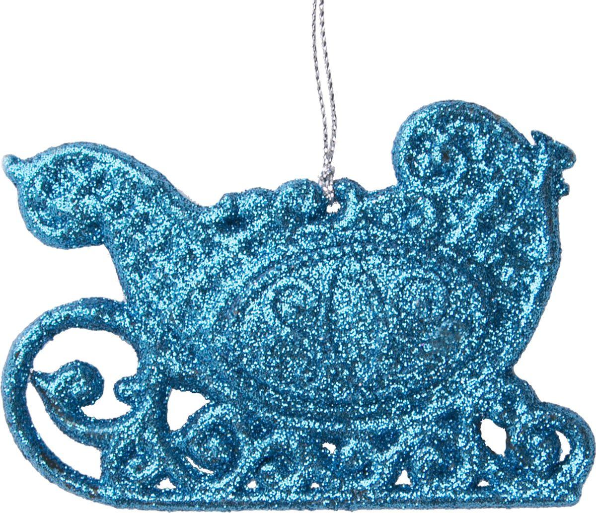 Новогоднее елочное украшение Magic Time Голубые сани, 10 х 7 см украшение елочное шар белка 7 см стекло