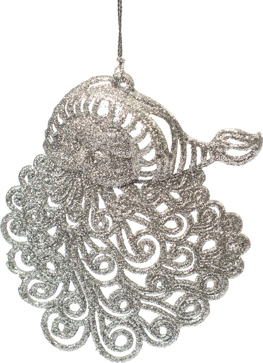 Новогоднее подвесное елочное украшение Magic Time Санта серебряный, 9 x 11 x 0,2 см новогоднее подвесное елочное украшение magic time бантик цвет золотой 9 х 9 х 1 см