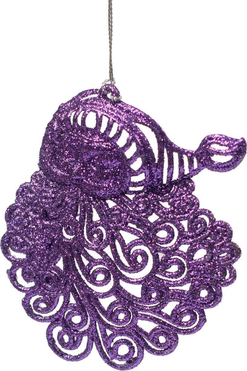 Новогоднее подвесное елочное украшение Magic Time Санта фиолетовый, 9 x 11 x 0,2 см новогоднее подвесное елочное украшение magic time бантик цвет золотой 9 х 9 х 1 см