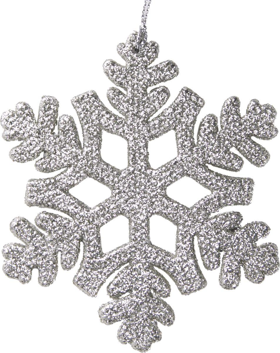 Новогоднее подвесное елочное украшение Magic Time Снежинка, 10 х 9 x 0,3 см новогоднее подвесное украшение снежинка цвет золотистый 25102