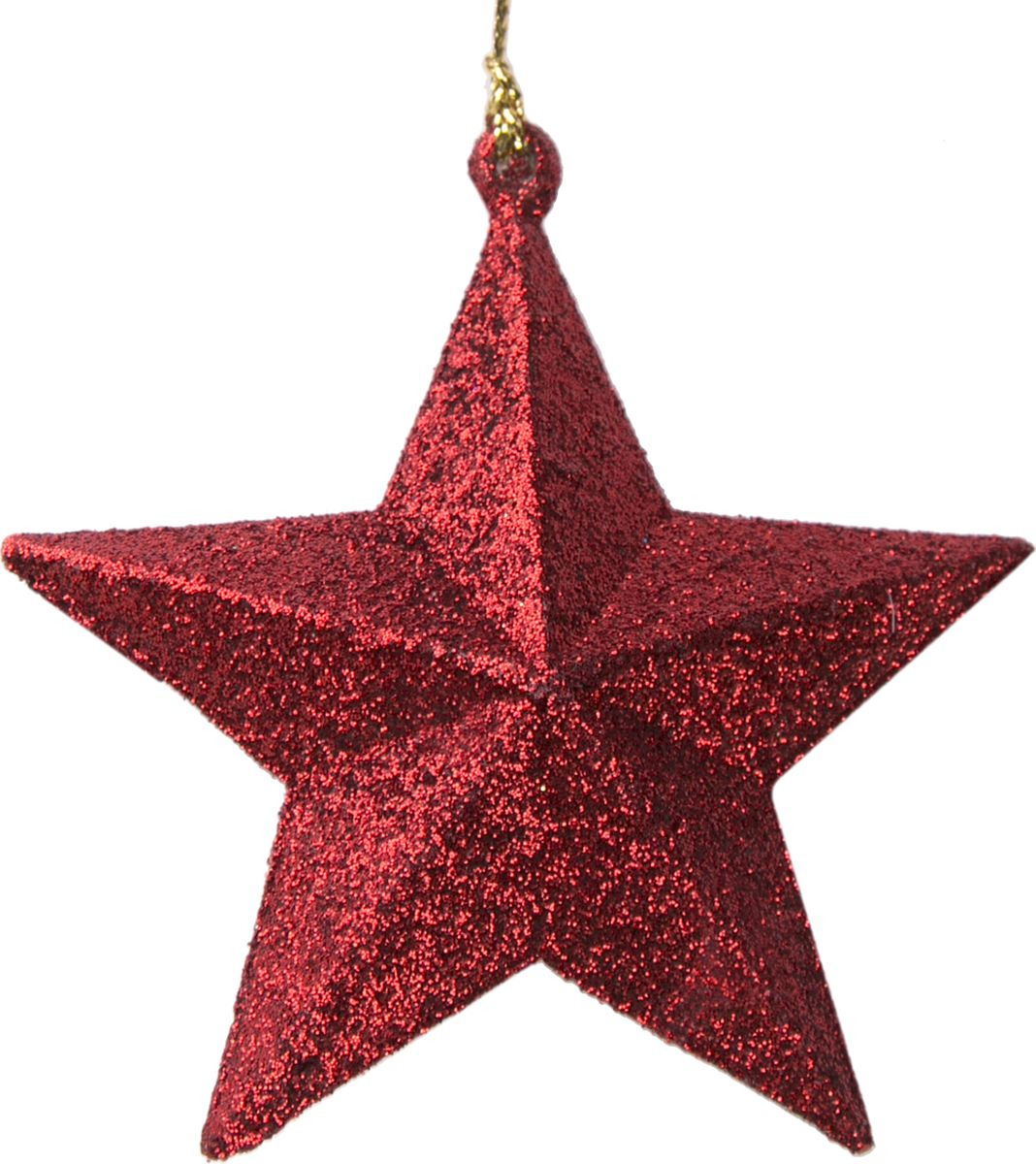 Новогоднее подвесное елочное украшение Magic Time Звезда, цвет: красный, 10 x 9,5 x 3,5 см украшение елочное звезда барокко 8 8 см черный золотой 1 шт в пакете