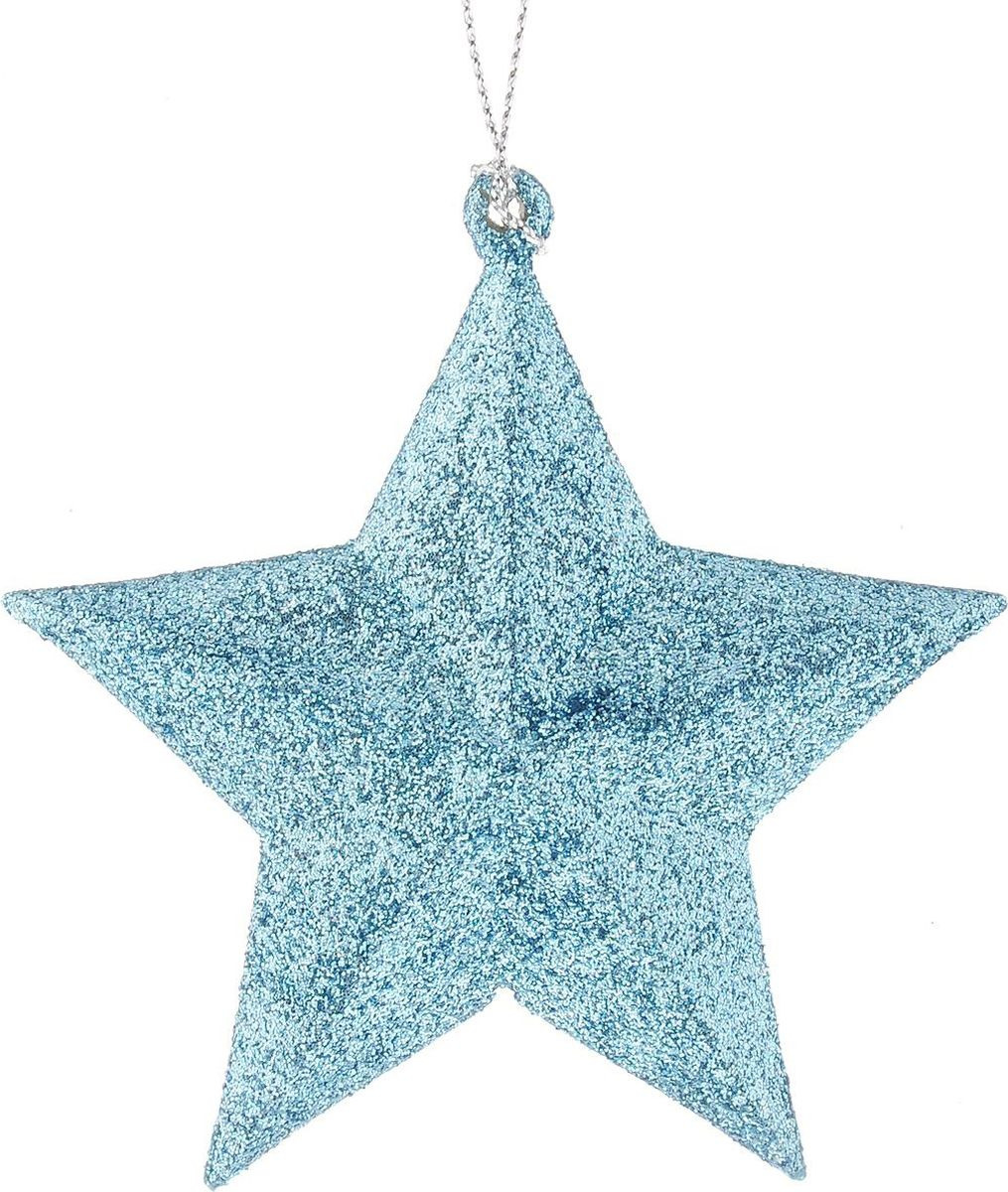 Новогоднее подвесное елочное украшение Magic Time Звезда, цвет: голубой, 10 x 9,5 x 3,5 см украшение елочное звезда барокко 8 8 см черный золотой 1 шт в пакете