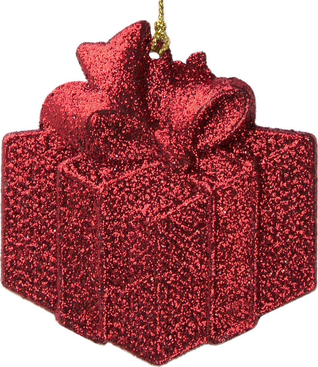 Фото - Новогоднее подвесное елочное украшение Magic Time Подарок, цвет: красный, 8 x 8,5 x 0,2 см новогоднее подвесное елочное украшение magic time подарок цвет золотой 8 x 8 5 x 0 2 см