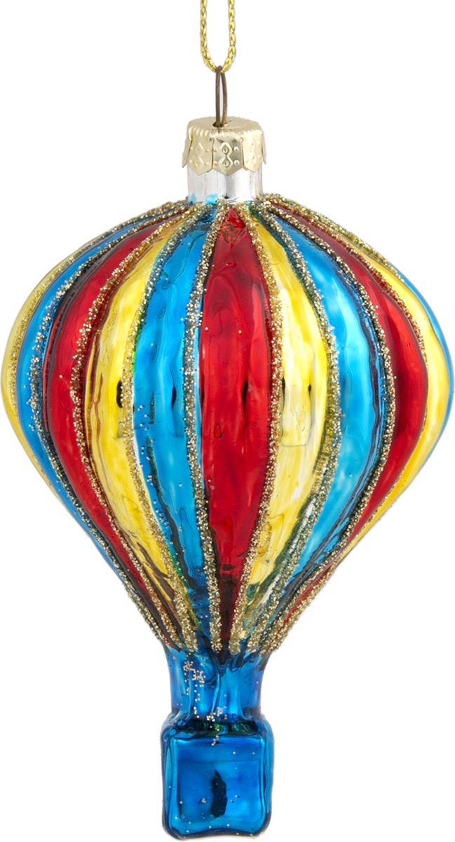 Новогоднее подвесное украшение Magic Time Воздушный шар, цвет: красный, синий, 6 х 9.6 см украшение елочное шар красный с блестками 13 см красный полимерный материал