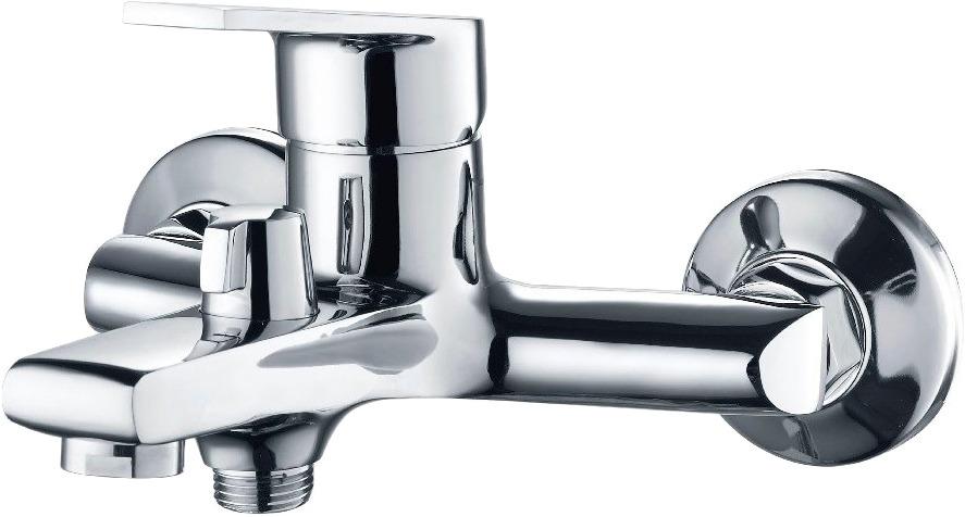 Смеситель для ванны РМС, с коротким литым изливом, цвет: хром. SL132-009E смеситель для ванны рмс sl77 белый с коротким изливом sl77w 009e