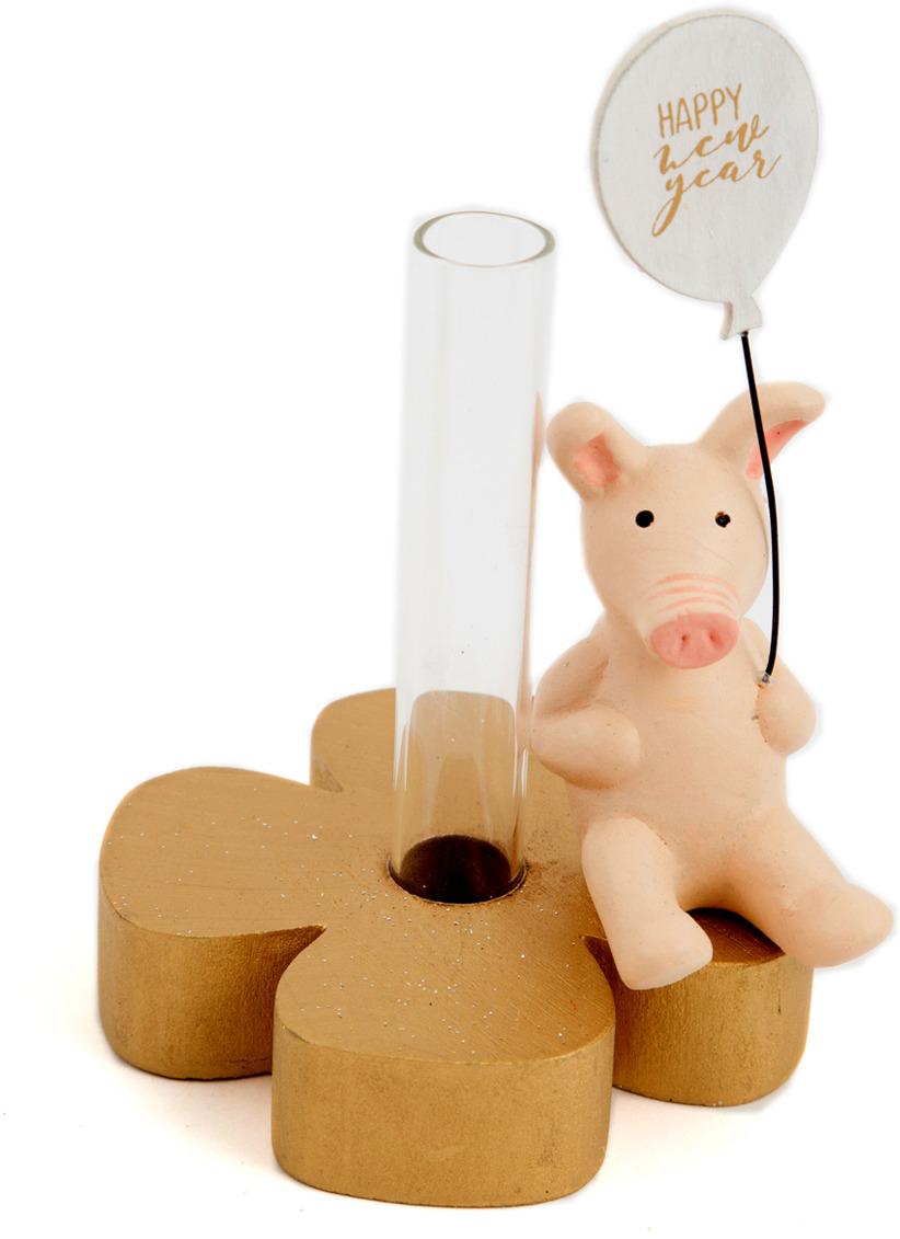 цена на Подсвечник Русские подарки Год свиньи, на 1 свечу, 15 х 8 х 8 см