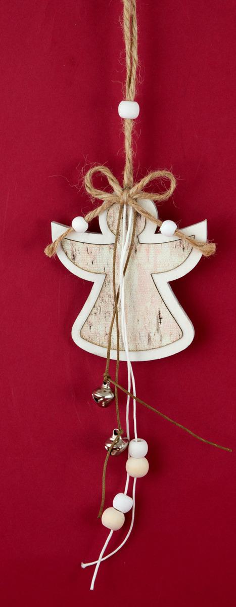 Подвесное украшение Русские подарки Ангел, 10 х 30 см подвесное украшение русские подарки роза 9 см 77985