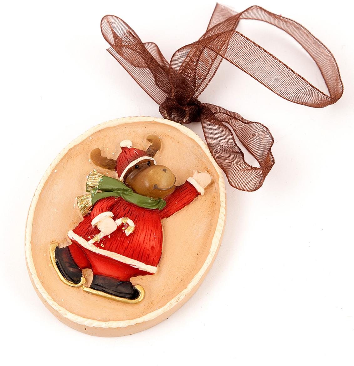 Игрушка ёлочная Русские подарки Лосик, 6 х 6 см елочная игрушка русские подарки шары цвет золотой 6 шт