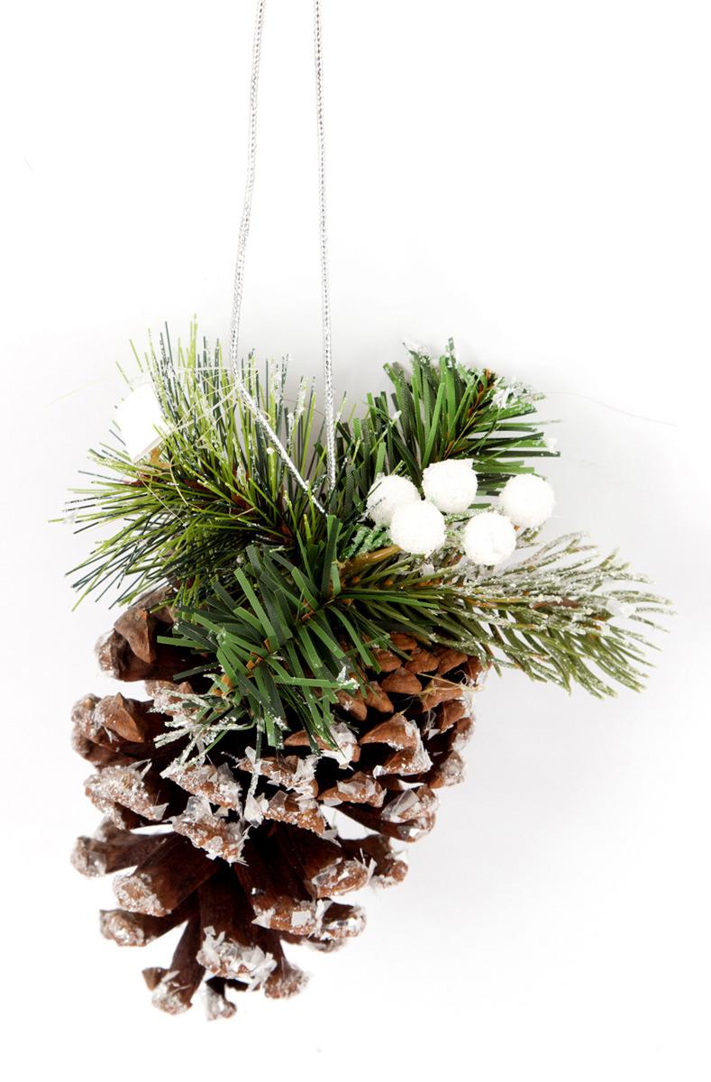 Подвесное украшение Русские подарки Снежный лес, 10 см украшение для интерьера русские подарки новогоднее 10 см 70607
