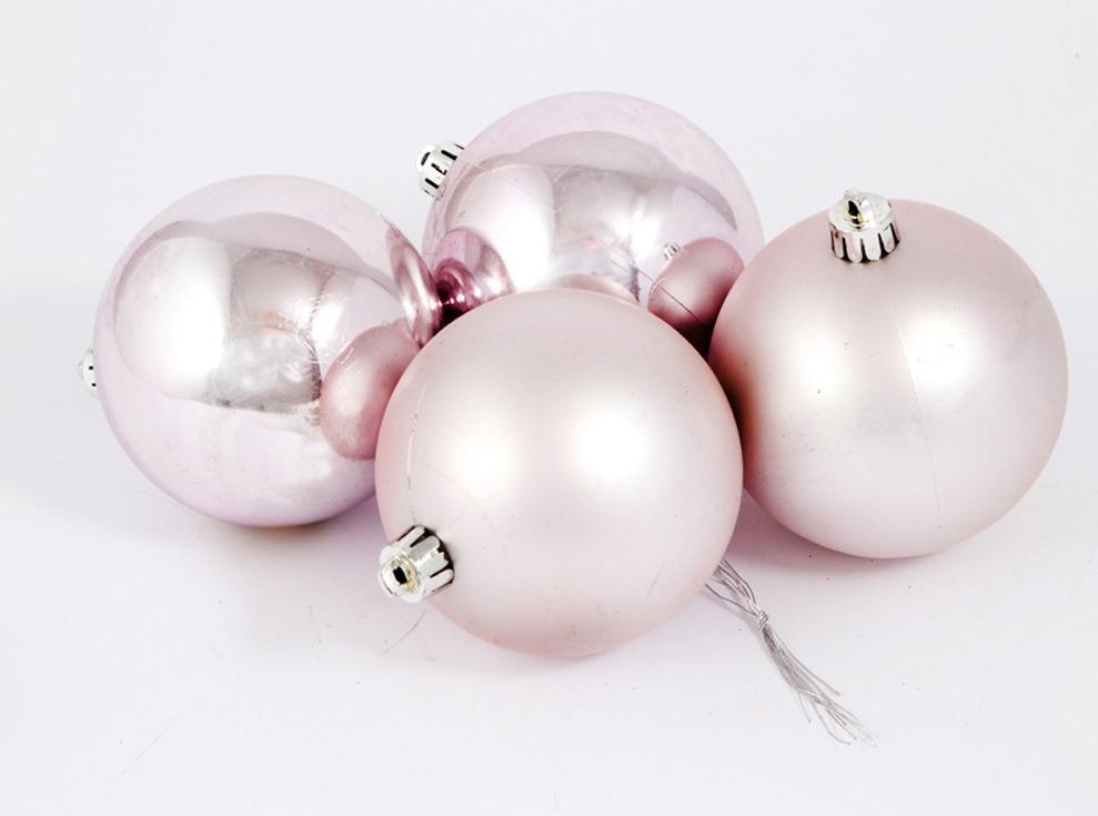 Набор ёлочных игрушек Русские подарки Шары, цвет: серебристый, 8 см, 4 шт елочная игрушка русские подарки шары цвет золотой 6 шт