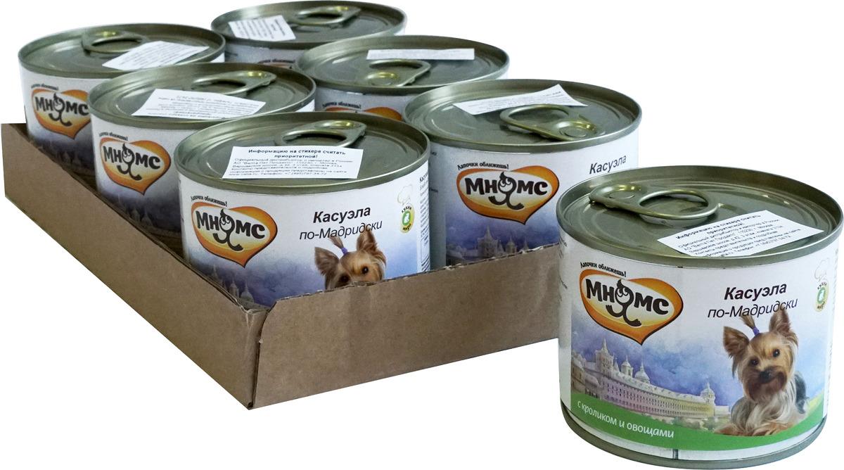 """Консервы для собак Мнямс """"Касуэла по-Мадридски"""", с кроликом и овощами, 200 г х 6 шт"""