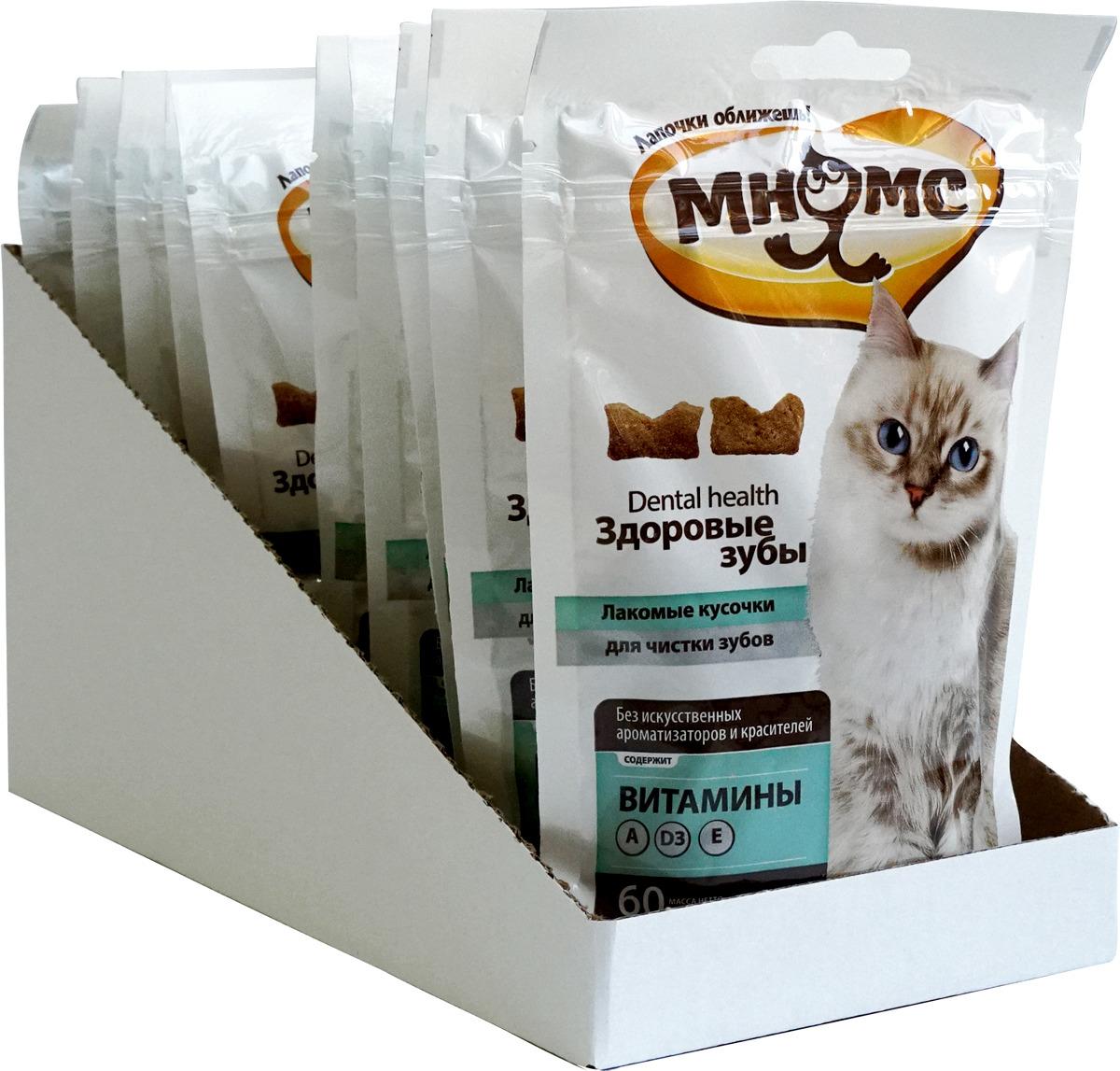 "Лакомство для кошек Мнямс ""Здоровые зубы"", 60 г х 10 шт"