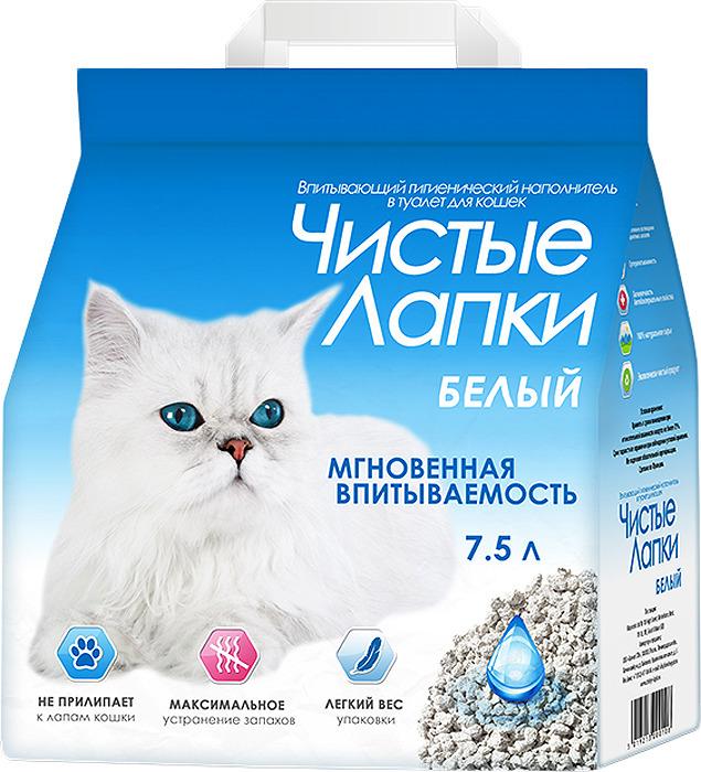 Наполнитель для кошачьего туалета Чистые Лапки, впитывающий, 7,5 л чистые лапки чистые лапки наполнитель комкующийся для кошек