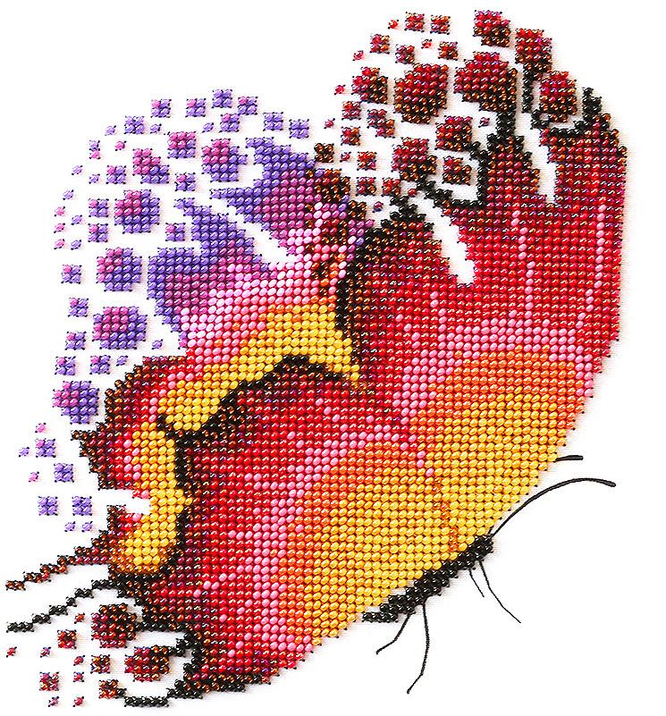 """Набор для вышивания бисером Созвездие """"Трепет """", 20 х 20 см. А-08"""