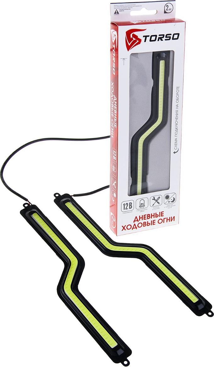 Дневные ходовые огни Torso DRL-1-7, 1 LED-COB, 12 Вт, 12 В, корпус черный, 2 шт. 1058798
