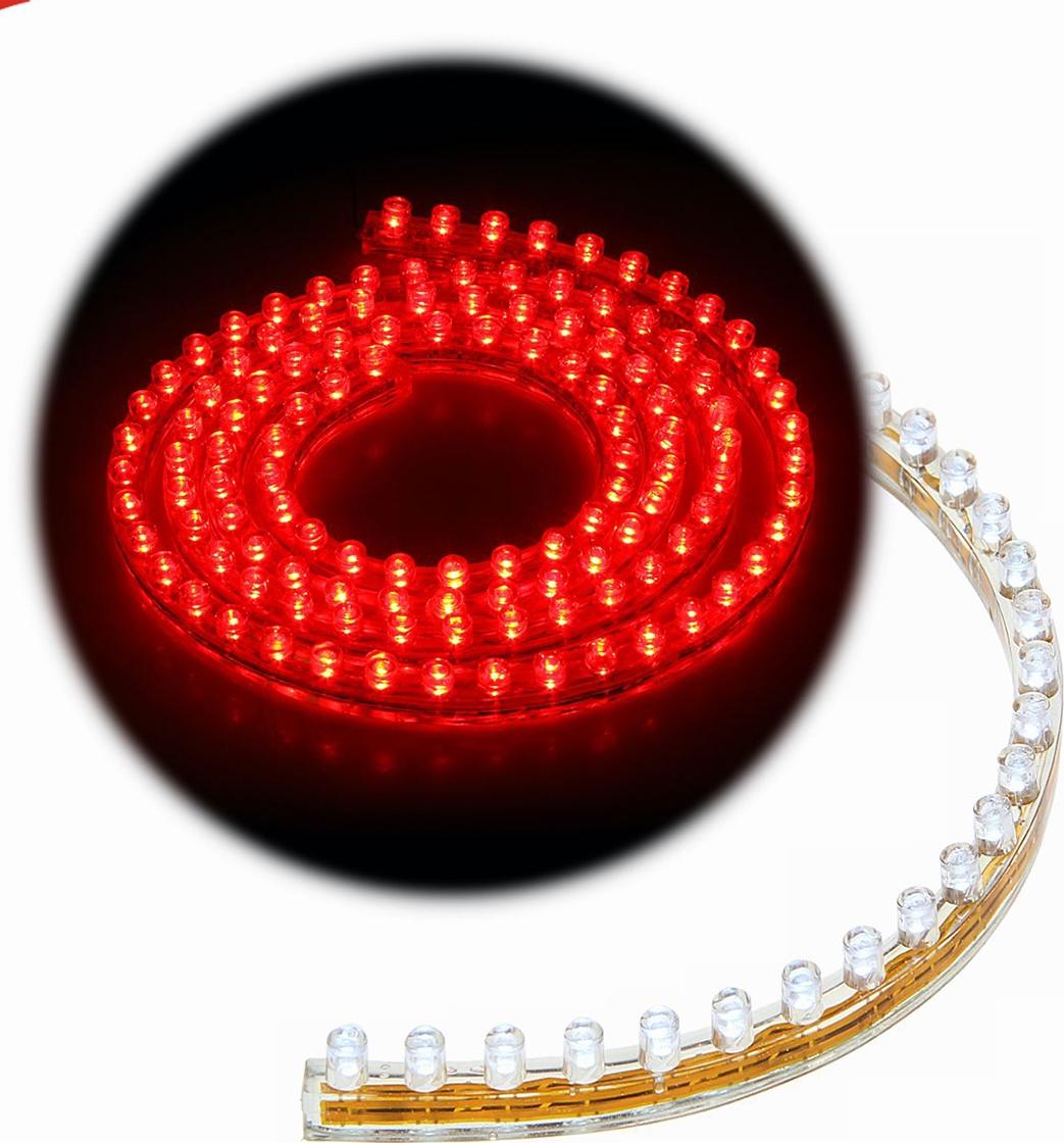 Светодиодная лента для авто Torso 120 LED, 120 см, 12 В, IP68, свет красный. 1058830