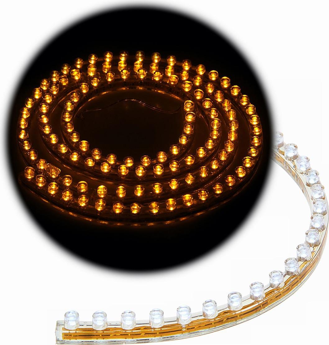 Светодиодная лента для авто Torso 120 LED, 120 см, 12 В, IP68, свет желтый. 1058831