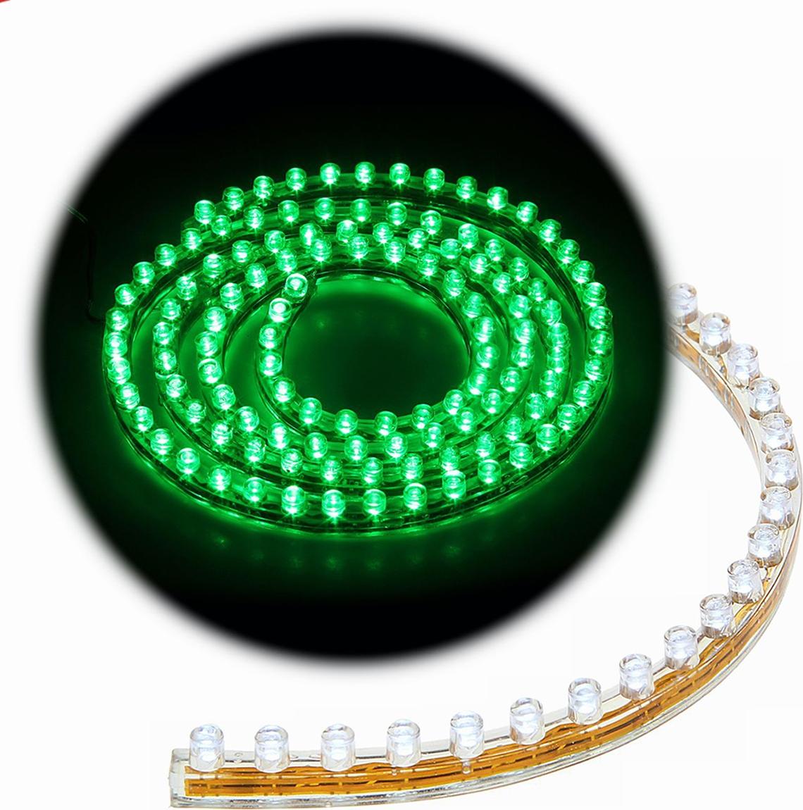 Светодиодная лента для авто Torso 120 LED, 120 см, 12 В, IP68, свет зеленый. 1058833