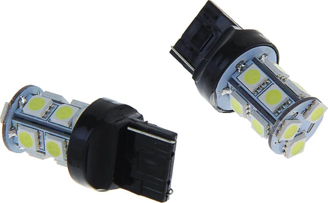 Комплект светодиодных ламп Torso Т20 W21/5W, 12 В, 13 SMD-5050, свет белый, 2 шт. 1059240