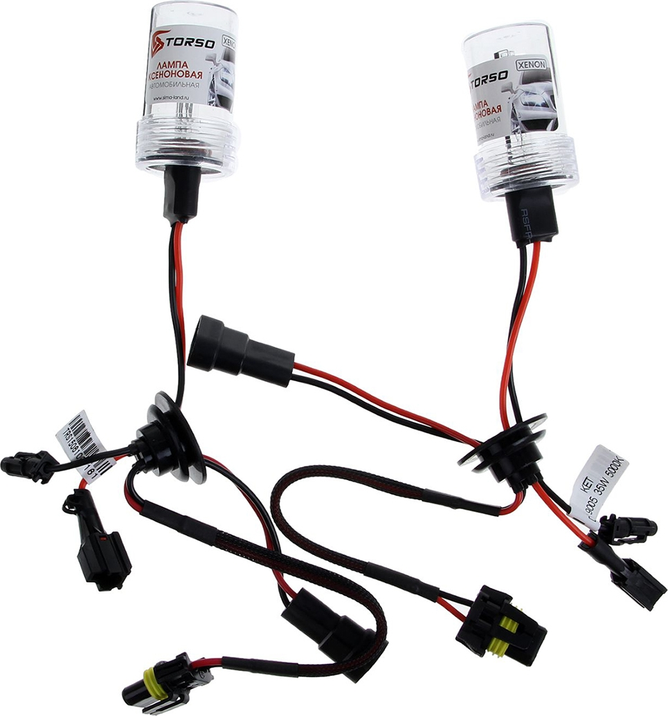 Комплект ксеноновых ламп Torso HB3 (9005), для блоков DC, 12 В, 5000 К, 2 шт. 1059340