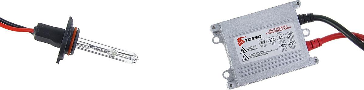 Комплект ксеноновых ламп Torso, блок розжига AC Slim, 35 Вт, 12 В, цоколь HB3 (9005), 4300 К. 1059351
