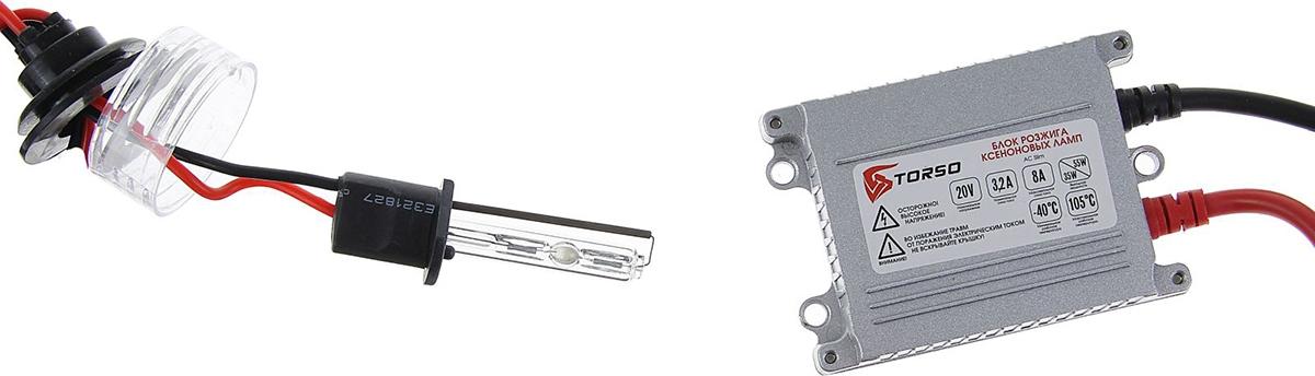Комплект ксеноновых ламп Torso, блок розжига AC Slim, 35 Вт, 12 В, цоколь H1, 5000 К. 1059353
