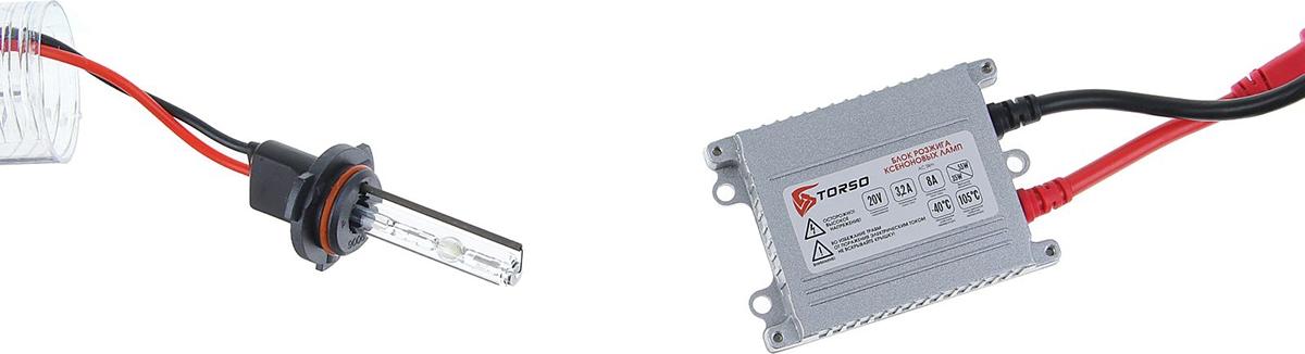 Комплект ксеноновых ламп Torso, блок розжига AC Slim, 35 Вт, 12 В, цоколь HB4 (9006), 5000 К. 1059361